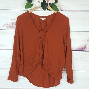 silence & noise | Rustic Open Style Blouse